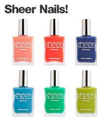 Sheer Nails! by #AmericanApparel.  #nail #nailpolish #sheer