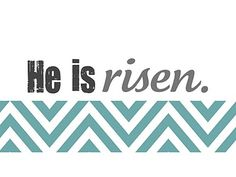 Easter Printable - He is risen.