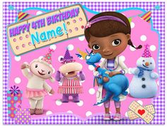 Doc Mcstuffins Edible Image Birthday Cake Topper by LovelyToppers, $8.00