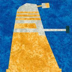 Free - Dalek, updated for 2012 by Jennifer Ofenstein (sewhooked.com), via Flickr