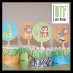 I could make my own cupcake toppers!