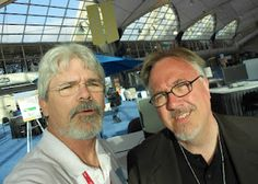 ISTE12 Reflections, Monday, Tuesday, Wednesday | scottmerrickdotnet -- my annual me-and-David pic in the bright bright sun of the San Diego Convention Center lobby!