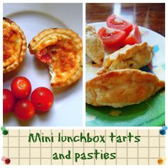 Mini lunchbox pasties and tarts for November's #FamilyFoodies lunchbox challenge
