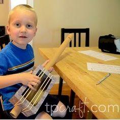 Cardboard Tube Guitar Craft