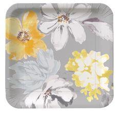 Dove Flowers Paper Plates & Napkins