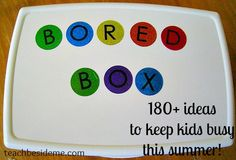 Bored Box for kids