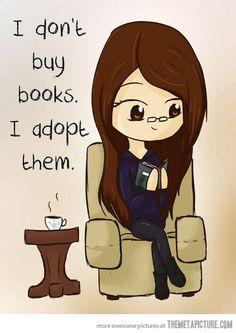 I don't buy books…