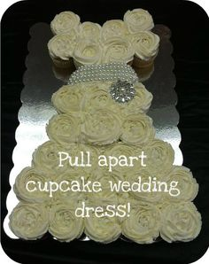 Hey, I found this really awesome Etsy listing at https://www.etsy.com/listing/155574638/pull-apart-cupcake-cake-wedding-dress