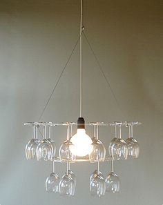 diy chandelier and wine glass holder in 1