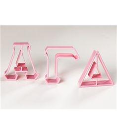 Greek Letter Cookie Cutters