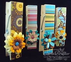 The Southern Stamper: Jumbo Clothespins Stampin' Up Style for the Craft Fair