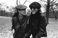 John Lennon and Yoko Ono in Central Park, November 21, 1980.