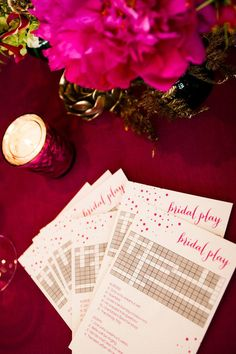 Bridal Shower crossword puzzley by Courtney Callahan Paper | Photography by dennisleephoto.com #QLPContests