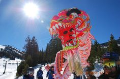 the Chinese New Year dragon by Mt. Rose Ski Tahoe, via Flickr
