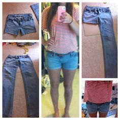 DIY jean shorts from old jeans