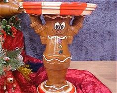 Adorable Gingerbread serving tray-made with terra cotta pots.