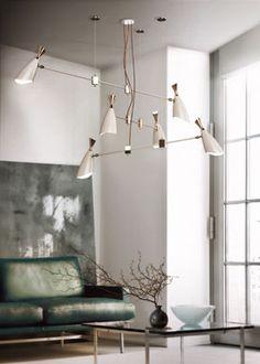 duke hanging dining sculptural lamp. vintage floor lamps, mid-century modern lighting, unique lamps, stilnovo lamps, dining table Lamps, vintage desk lamps, brass sconces