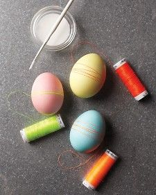 thread wrapped eggs. sweet & simple.