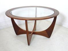 G PLAN ASTRO CIRCULAR TEAK MID CENTURY 60S 70S GLASS TOP COFFEE TABLE | eBay