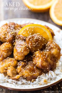 Baked Orange Chicken at http://therecipecritic.com This Baked Orange Chicken is BETTER than Take out and you won't be able to believe you can make it at home!