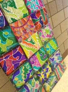 Art at Becker Middle School: Tin Foil Line Relief ... like how they are displayed