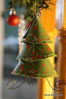 Scrapbook paper (& thin wire) Christmas ornament