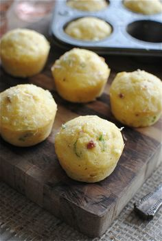 Corn muffins with bacon and parmesan