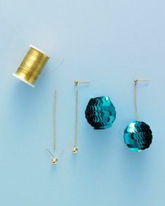 Sequin Ball Earrings How-To