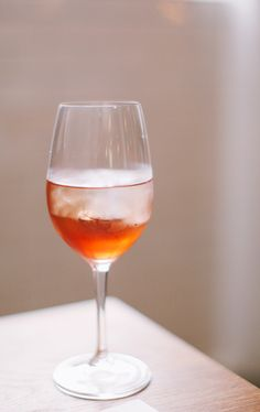 Campari and white wine