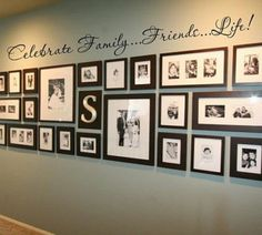 family pictures, photo display, photo walls, family photos, gallery walls