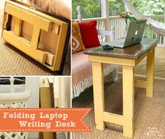 Folding Laptop / Writing Table Tutorial from Pretty Handy Girl