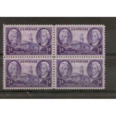 U.S. MNH BLOCK OF 4 SC#941 ANDREW JACKSON JOHN SEVIER stamp