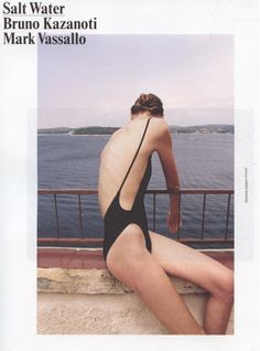 The Nylon Tricot High-Cut One-Piece featured in Oyster Magazine Australia.