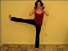Multitasking Move: Balancing Side Leg Lift Squat - Downloading that song, too!