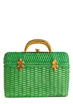 darling 1960s wicker handbag