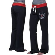 '47 Brand St. Louis Cardinals Ladies Powerstretch Pants - Navy Blue . I want these.