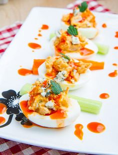 Buffalo Chicken Deviled Eggs Recipe