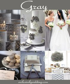 "Gray Wedding Color | Don't Rule Out Neutral Wedding Colors | Read more: ""http://blog.exclusivelyweddings.com/2014/07/11/dont-rule-out-neutral-wedding-colors/"
