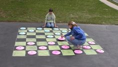 Yes! Play Checkers on the Sidewalk
