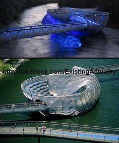 Aiola Island Bridge, The Unique Bridge in Austria