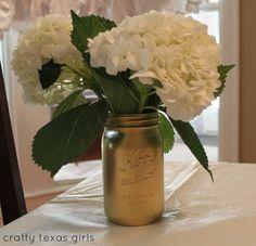 Paint a mason jar gold