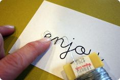 A How To Do Wire Words!