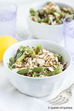 Green Bean & Almond Quinoa Salad | recipe on queenofquinoa.me | #glutenfree #vegan