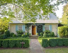 Cape Cod Exterior - Hedge-fence idea, shutters. Bee Cottage