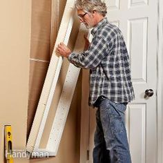 Built-In Shelves - recessed between wall studs (instructions from Family Handyman Magazine)