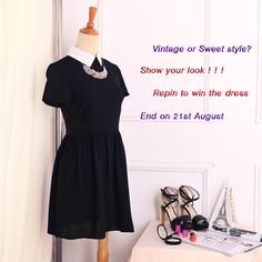 #REPINTOWIN   It's time to show your look now, wanna the dress ,just to repin, one winner by random will get it for free, and you also get it $14.99 at least on 21th August.Good luck<<<<<<<