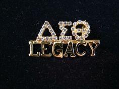 DST Legacy Swarovski crystal pin