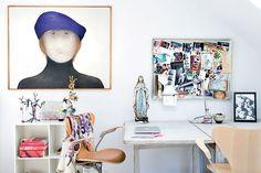 1202 Villa villekulla - office spaces, work space, pin boards, desks, hous, danishes, home offices, desk chairs, workspac