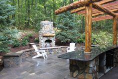 Cedar Pergala traditional patio