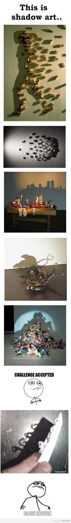 This is shadow art. Amazing!